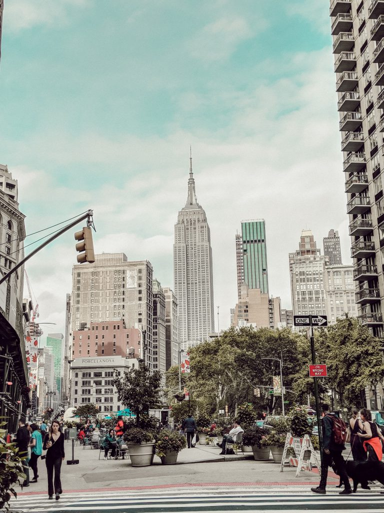 Empire State Building vom Iron Flat Building aus fotografiert